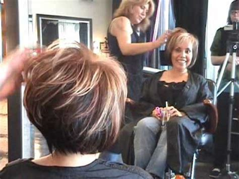 part 2 of 2 layered angled modern bob hair cut featuring