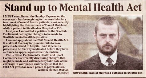section 52 mental health act chrys muirhead unwillingness to comply with international