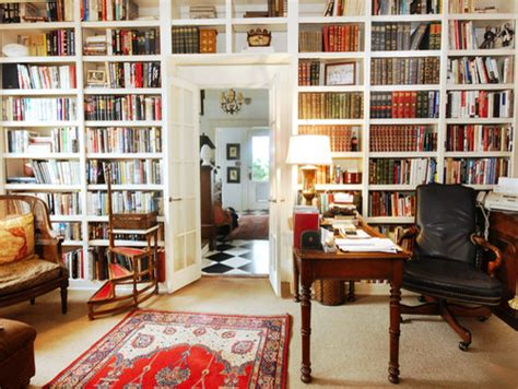 home office design books built in bookcase wall