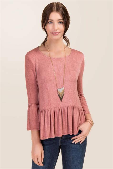 knit tops kalani bell sleeve peplum knit top s