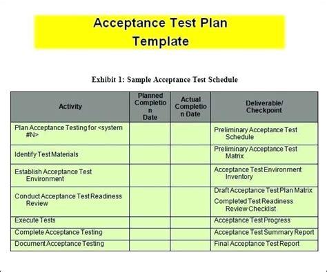 Template Excel En N S Test Plan For User Acceptance Testing Uat A Reflexapp User Acceptance Testing Template