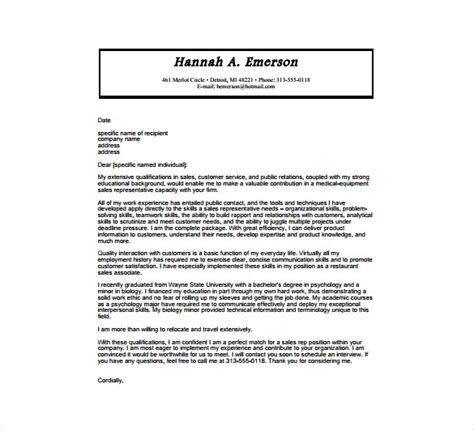 7 medical cover letter templates free sle exle