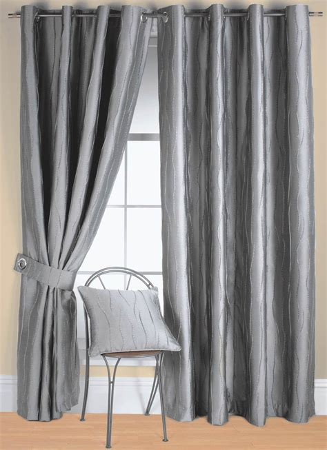 Silver Curtains Silver Jazz Ready Made Eyelet Curtain Free Uk Delivery