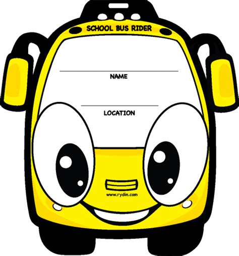 Backpack Tags School Bus Rider Rydin Com Car Rider Sign Template