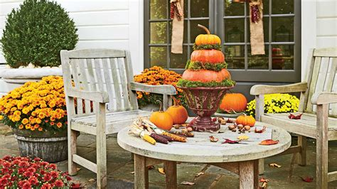 southern living fall decorating ideas spice up the patio with a harvest of decorations fall