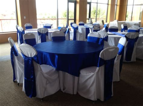 Royal Blue Horizon Sashes   Devoted Weddings and Events