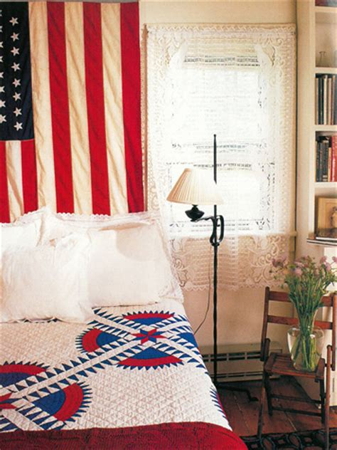 americana bedroom patriotic decor 4th of july red white and blue