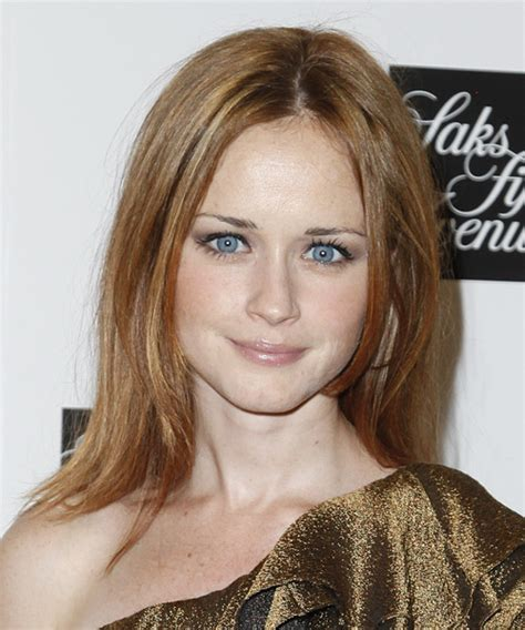 alexis bledel face shape alexis bledel medium straight casual hairstyle