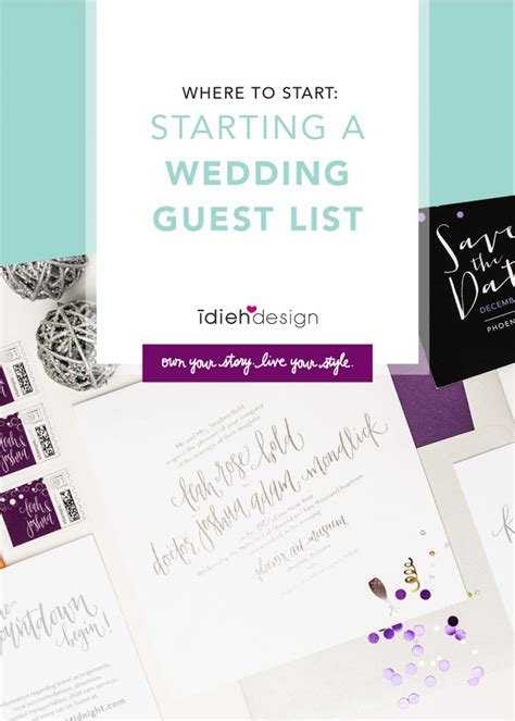 Wedding How To Start by Where To Start Starting A Wedding Guest List