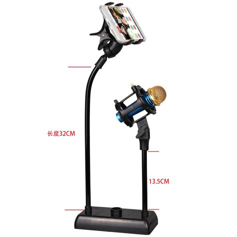 stand mikrofon dan lazypod smartphone holder black jakartanotebook