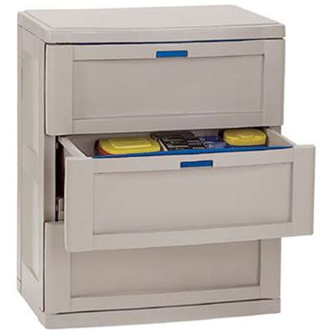 Garage Cabinets Drawers Three Drawer Garage Cabinet Taupe In Storage Cabinets