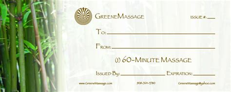 therapy gift certificate template gift certificate templates