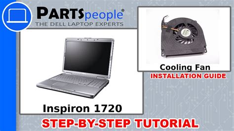 dell inspiron 1720 cpu cooling fan replacement tutorial