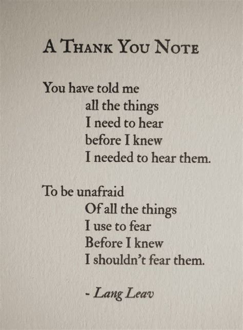 Thank You Letter Quotation a thank you note lang leav liferules