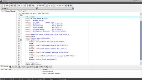 koding membuat web sederhana membuat program sederhana menggunakan dev c dojo shared