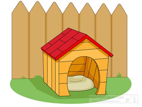 dog house with fence dog clipart dog house near fence classroom clipart