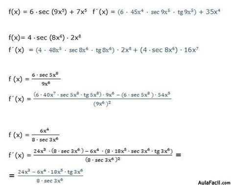 derivada de coseno cuadrado derivadas trigonom 233 tricas derivada de la secante derivadas
