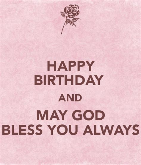 imagenes de happy birthday god bless happy birthday and may god bless you always poster