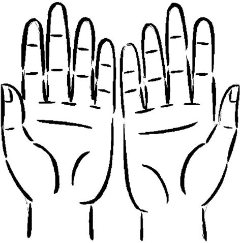 coloring pages of two hands two hands cupped together coloring pages