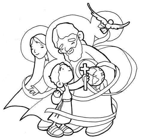 holy trinity coloring pages fichas religi 243 n pinterest