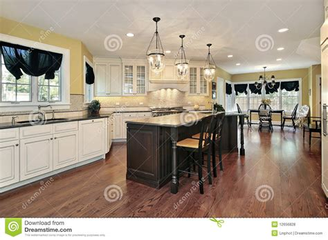 kitchen island eating area kitchen with island and eating area royalty free stock photos image 12656828