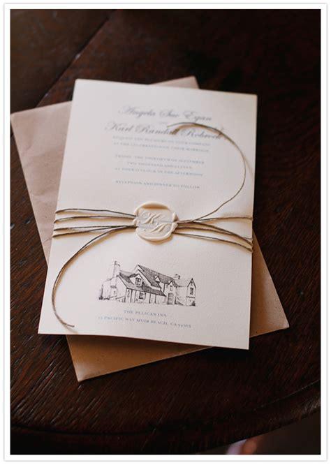 wedding invitation wax seal pelican inn wedding angela karl real weddings 100 layer cake