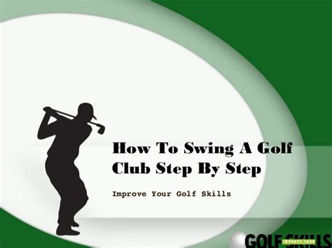 how to swing a golf club how to swing a golf club step by step
