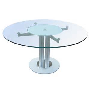 Circular Glass Dining Tables Modern Glass And Metal Circular Dining Conference Table 80 Ebay