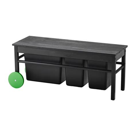ikea black bench anv 196 ndbar bench for waste sorting ikea