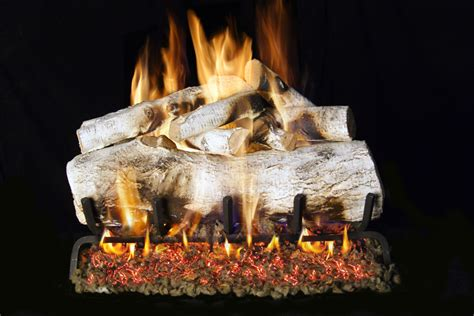 Birch Gas Fireplace Logs mbwg46 30 peterson real fyre mountain birch vented gas
