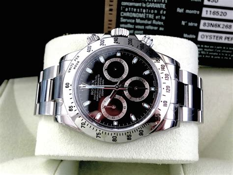 Rolex Daytona Comsmograph 116520 Black Ss Ultimate 1 1 the collections sold rolex cosmograph daytona ss