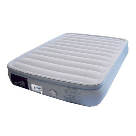 inflatable queen bed aerobed 46613 queen inflatable air bed mattress premier cushioned comfort ebay
