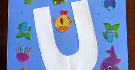 underwater crafts for u is for underwater preschool crafts