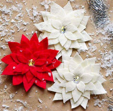 poinsettia craft for pretty poinsettia pin craft
