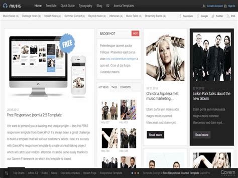 template joomla music free best free joomla 3 x templates as of may 2013
