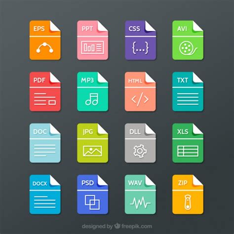 format file graphic file formats collection vector free download