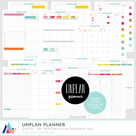 detailed day planner unplan planner pages
