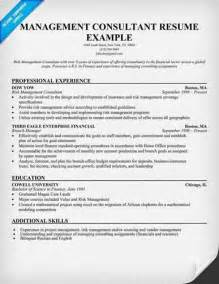 Management Consultant Sle Resume by Phd Resume Mckinsey
