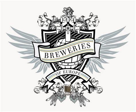 design a crest logo breweries of europe crest logo