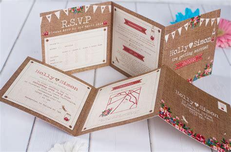 hessian wedding invitations rustic wedding stationery invites