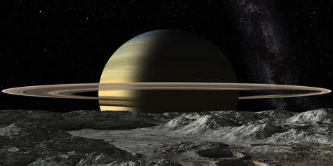 saturn moon mimas saturn from mimas by uxmal750ad on deviantart