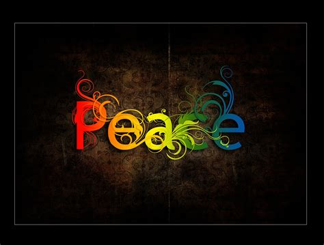 color for peace the word peace colorful wallpaper