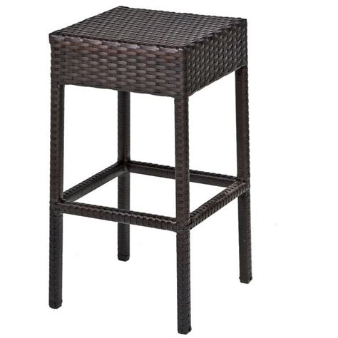 outdoor wicker bar stool tkc napa backless outdoor wicker bar stools in espresso