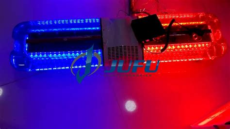 red blue police lights police supplies 144w red blue led police light bar