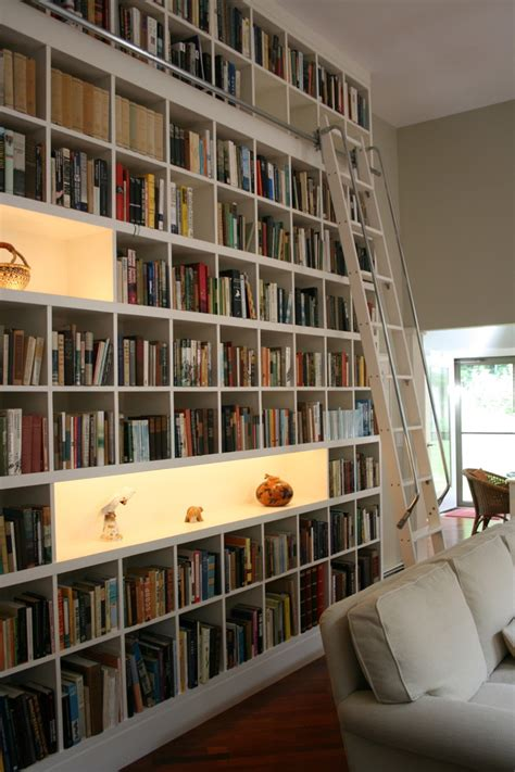 home library shelves picture of rows of matching billy bookcases from ikea will