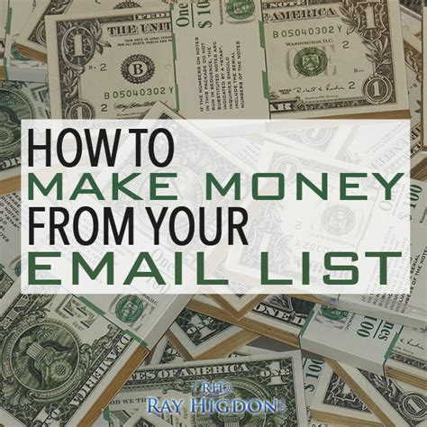 Make Money Online List - how to make money online through email