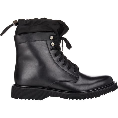 prada cuff boots in black for lyst