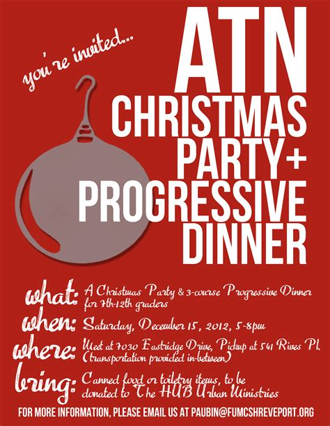 upcoming atn christmas party progressive dinner