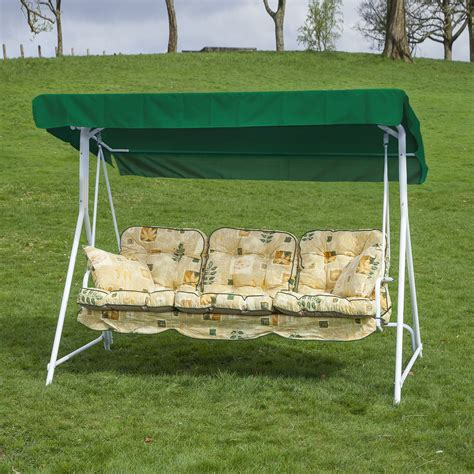 cushions for outdoor swings garden patio 3 seater white swing seat hammock with