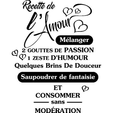 citation cuisine amour sticker citation recette de l amour stickers citations